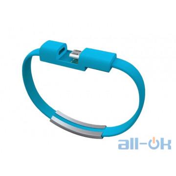 USB- microUSB браслет Blue