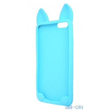 Силиконовый чехол Coco Cat для Apple iPhone 6 6S Blue