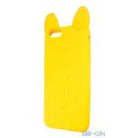 Силиконовый чехол Coco Cat для Apple iPhone 6 6S Yellow