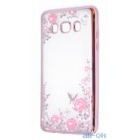 Силиконовый чехол Metal Flowers для Samsung J710