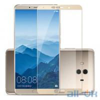 Захисне скло Huawei Mate 10 с рамкой Gold