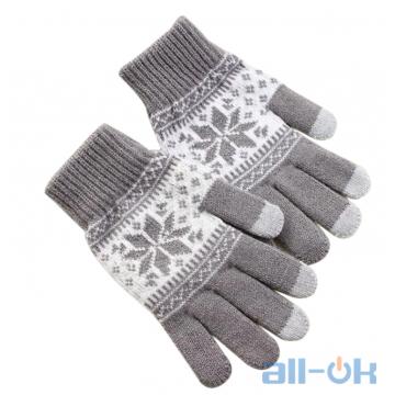 Зимние перчатки для сенсорных экранов унисекс KLV Grey