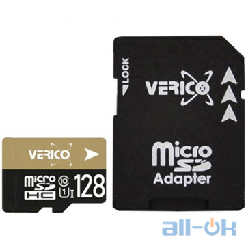 Карта памяти VERICO 128 GB microSDXC UHS-I Class 10 + SD adapter 1MCOV-MAX9C3-NN