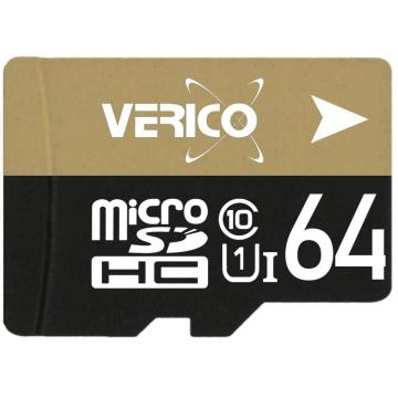 Карта памяти VERICO 64 GB microSDXC Class 10 + SD adapter