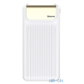 Внешний аккумулятор (Power Bank) Baseus Thin QC3.0 Digital display Power bank 10000mAh White (PPYZ-C02)