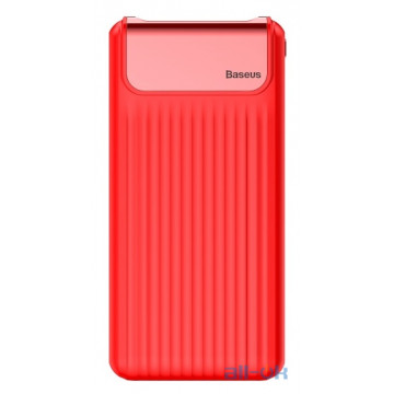 Внешний аккумулятор (Power Bank) Baseus Thin Quick Charge 3.0 10000mAh Red (PPYZ-C09)