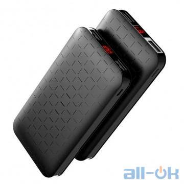 HOCO 10000 mAh Power Bank Ultra-thin Polymer Dual USB black
