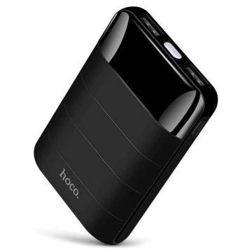 HOCO Power Bank 10000mAh Mini Dual USB LED Black
