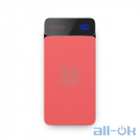 ROCK QI Wireless Charger Power Bank 8000mah with Digital Display red