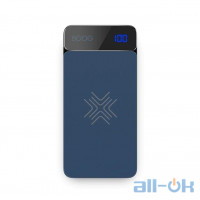 ROCK QI Wireless Charger Power Bank 8000mah with Digital Display blue
