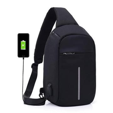 Рюкзак городской водонепроницаемый anti theft антивор с USB Black