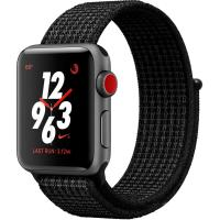 Apple Watch Nike+ Series 3 GPS + Cellular 38mm Gray Aluminum w. Black/Pure PlatinumSport L. MQL82