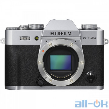 Беззеркальный фотоаппарат Fujifilm X-T20 silver body