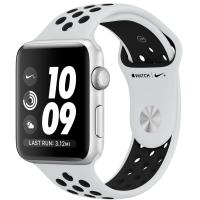 Apple Watch Nike+ Series 3 GPS 38mm Silver Aluminum w. Pure Platinum/BlackSport B. (MQKX2)