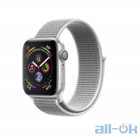 Apple Watch Series 4 40mm GPS+LTE Silver Aluminum Case with Seashell Sport Loop (MTVC2)